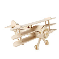 cheap Models & Building Toys-3D Puzzle Jigsaw Puzzle Wood Model Plane / Aircraft Fighter Aircraft Famous buildings DIY Wood Classic Kid's Unisex Gift