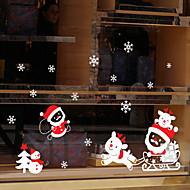 お買い得  クリスマスデコレーション-動物 ウインドウステッカー,PVC /ビニール 材料 窓の飾り