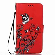 Кейс для Назначение SSamsung Galaxy J7 (2016) J5 (2016) Кошелек Бумажник для карт со стендом Флип Рельефный С узором Чехол Цветы Твердый