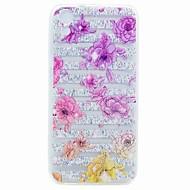Til HTC Desire 626 Etui dækker gennemsigtigt mønster bagcoveret blomst blødt TPU tilfælde