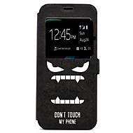 Недорогие Чехлы и кейсы для Galaxy S-Кейс для Назначение SSamsung Galaxy S8 Plus S8 Бумажник для карт со стендом С узором Чехол Слова / выражения Твердый Кожа PU для S8 Plus
