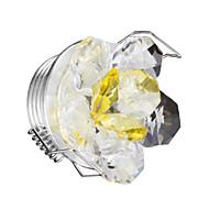 tanie Żarówki LED podtynkowe-1 szt przyciemniane kinkiety 1w ciepły biały kryształ 220 v wysokiej jakości