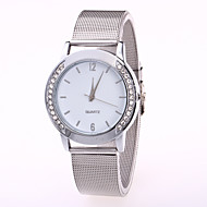cheap Fashion Watches-Women's Wrist Watch Quartz Casual Watch Cool Stainless Steel Band Analog Casual Fashion Silver - Gold White / Silver One Year Battery Life / Jinli 377