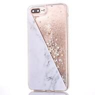 Недорогие Кейсы для iPhone 8 Plus-Кейс для Назначение Apple iPhone 8 / iPhone 8 Plus Стразы / Движущаяся жидкость / С узором Кейс на заднюю панель Сияние и блеск / Мрамор Твердый ПК для iPhone 8 Pluss / iPhone 8 / iPhone 7 Plus