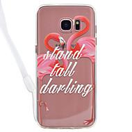 Недорогие Чехлы и кейсы для Galaxy S7-Кейс для Назначение SSamsung Galaxy S8 Plus S8 Прозрачный С узором Кейс на заднюю панель Фламинго Твердый Акрил для S8 Plus S8 S7 edge S7