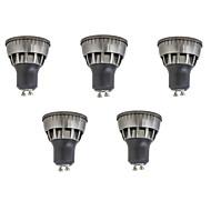 お買い得  LED スポットライト-5個 3W 320lm GU10 LEDスポットライト 1 LEDビーズ COB 装飾用 温白色 / クールホワイト 85-265V