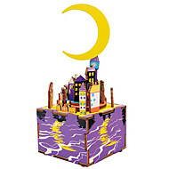 cheap Toys & Hobbies-Wooden Puzzles Toys Famous buildings Moon Cartoon DIY Kid's Children's Pieces