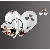 abordables Adhesivos Decorativos-Espejos Pegatinas de pared Calcomanías 3D para Pared Espejo Calcomanías Decorativas de Pared, El plastico Vinilo Decoración hogareña