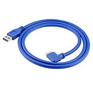 USB 3.0 케이블, USB 3.0 to USB 3.0 마이크로 -B 케이블 Male - Male 1.0M (3 피트)