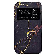 Недорогие Чехлы и кейсы для Galaxy J5(2016)-Кейс для Назначение SSamsung Galaxy J7 (2016) J5 (2016) Бумажник для карт со стендом С узором Чехол Мрамор Твердый Кожа PU для J7 (2016)