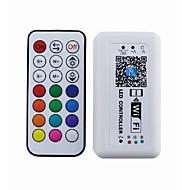 21 control inalámbrico inalámbrico rf wifi controlador de teléfono inteligente aplicación de control con ios o sistema android (rgb)