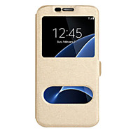 For Samsung Galaxy J7 (2016) J7 (2017) Case Cover With Windows Full Body Case Solid Color Hard PU Leather For Samsung Galaxy J7 J5 (2016) J5 (2017) J5