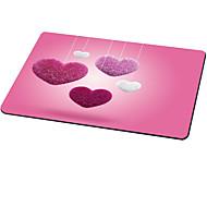 în formă de inimă pad pad drăguț stofa de cauciuc 21cm * 26cm * 0.3cm