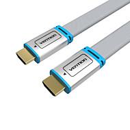 VENTION HDMI 2.0 ケーブル, HDMI 2.0 to HDMI 2.0 ケーブル オス―オス 1080P 金メッキ銅 5.0メートル(16フィート)