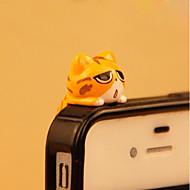 anti-stof plug diy kat cartoon speelgoed pvc diy voor iphone 8 7 Samsung Galaxy S8 S7