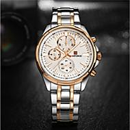 NAVIFORCE Муж. Нарядные часы Модные часы Японский Кварцевый Защита от влаги Нержавеющая сталь Группа Cool Люкс Серебристый металл