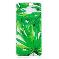 Корпус для Samsung Galaxy A3 (2017) a5 (2017) Корпус крышки зеленый лист шаблон tpu материал imd корпус телефон чехол для samsung a3