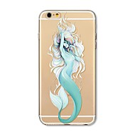 cheap Apple Accessories-Case For Apple iPhone X iPhone 8 Plus Transparent Pattern Back Cover Sexy Lady Cartoon Animal Soft TPU for iPhone X iPhone 8 Plus iPhone