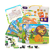 Educational Toy Jigsaw Puzzle Wooden Puzzles Toys Cat Squirrel Other Friut Unisex Pieces