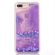 Kotelo iphone 7 plus 7 kotelon suojus lumihiutale kuvio virtaava neste glitter pc materia puhelimen kotelo 6s plus 6plus 6s 6 se 5s 5