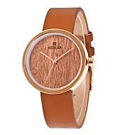 お買い得  -女性用 ファッションウォッチ 腕時計 ウッド 日本産 クォーツ 木製 PU バンド チャーム Elegant ブラウン