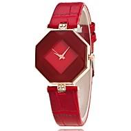 Mulheres Relógio de Pulso Quartzo Couro PU Acolchoado Preta / Branco / Azul Relógio Casual Analógico senhoras Amuleto Casual Fashion Elegante - Roxo Vermelho Azul