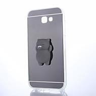 Etui Käyttötarkoitus Samsung Galaxy A5(2017) A3(2017) Peili DIY squishy Takakuori Kissa Yhtenäinen väri 3D sarjakuva Kova PC varten A3