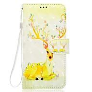 Недорогие Чехлы и кейсы для Galaxy S8-Кейс для Назначение SSamsung Galaxy S8 Plus S8 Бумажник для карт Кошелек со стендом Чехол Животное Мягкий Кожа PU для S8 Plus S8 S7 edge