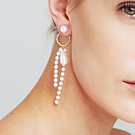 tanie Wybór edytora-Damskie Pearl imitacja Spersonalizowane Luksusowy Seksowny Wyrazista biżuteria Modny euroamerykańskiej Film Biżuteria Miedź Circle Shape