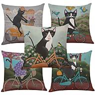 5 szt Bielizna Naturalne / ekologiczne Cotton / Linen Pokrywa Pillow Poszewka na poduszkę,TexturedRetro Tradycyjny / Classic Wałek Euro