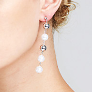 cheap Editor's Picks-Women's Imitation Pearl - Personalized / Heart / Friendship Silver Circle Earrings For Christmas Gifts / Anniversary / Event / Party