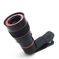 Objectif de caméra télescopique lentille de caméra de zoom optique hd 8x zoom pour téléphone portable avec clip universel adapté pour