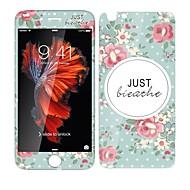 Недорогие Защитные плёнки для экрана iPhone-Защитная плёнка для экрана для Apple Закаленное стекло 1 ед. Защитная пленка на всё устройство Защитная пленка для экрана и задней панели