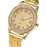 billige Modeure-Dame Quartz Armbåndsur Afslappet Ur Rustfrit stål Bånd Vedhæng Luksus Afslappet Elegant Mode Sej Sølv Guld Rose Guld