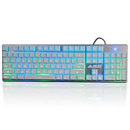 A-caz jjzs oyun klavye mekanik dokunmatik 3 renkli arka ışık19key anti-gölgelenme
