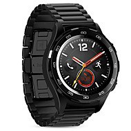halpa -Hoco huawei watch2 urheiluvälinekori 20mm solid ruostumatonta terästä metallia, jossa perhonen tyyliin solki musta&hopea