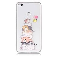 Taske til huawei p10 lite p8 lite (2017) mobil taske tpu materiale kat mønster malet telefon taske p9 lite p8 lite