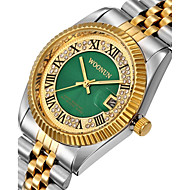 voordelige Modieuze horloges-Heren Dames Modieus horloge Gesimuleerd Diamant Horloge Pavé horloge Japans Kwarts Kalender Waterbestendig Punk Grote wijzerplaat