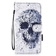 Назначение iPhone 7 iPhone 7 Plus Чехлы панели Кошелек Бумажник для карт со стендом Флип С узором Магнитный Чехол Кейс для Черепа Твердый