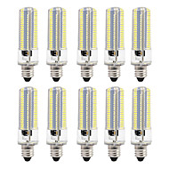 cheap LED Corn Lights-10 8W LED Corn Lights 152 leds SMD 3014 Dimmable Warm White White 700lm 3000-3500  6000-6500K AC110 AC220V