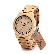 Hombre Reloj de Vestir Reloj de Moda Reloj Casual Chino Cuarzo Cronógrafo Resistente al Agua Madera Banda Encanto Casual De Lujo Elegantes