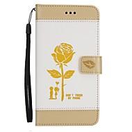 Кейс для Назначение SSamsung Galaxy A5(2017) A3(2017) Кошелек Бумажник для карт со стендом Флип С узором Чехол Цветы Твердый