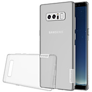 billige Etuier / covers til Galaxy Note-modellerne-Etui Til Samsung Galaxy Note 8 Ultratyndt Transparent Bagcover Helfarve Blødt TPU for Note 8