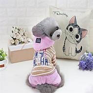 Katze Hund Mäntel Pullover Kapuzenshirts Overall Pyjamas Hundekleidung Party Lässig/Alltäglich warm halten Sport Halloween Weihnachten