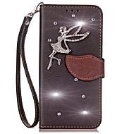 preiswerte Handyhüllen-Hülle Für Xiaomi Mi Max 2 Mi 6 Kreditkartenfächer Geldbeutel Strass mit Halterung Flipbare Hülle Ganzkörper-Gehäuse Volltonfarbe Hart
