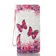 voor case cover kaarthouder portemonnee met standaard flip magnetisch patroon full body case vlinder hard pu leer voor Samsung Galaxy Note