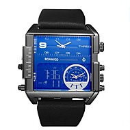 cheap Jewelry & Watches-Men's Quartz Sport Watch Chinese Calendar / date / day Chronograph Water Resistant / Water Proof Leather Genuine Leather Band Creative