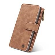 Недорогие Чехлы и кейсы для Galaxy Note-Кейс для Назначение SSamsung Galaxy Note 8 Note 5 Кошелек Бумажник для карт Флип Магнитный Чехол Сплошной цвет Твердый Натуральная кожа