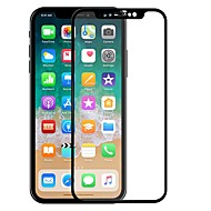 Недорогие Защитные плёнки для экрана iPhone-ASLING Защитная плёнка для экрана для Apple iPhone X Закаленное стекло 1 ед. Защитная пленка на всё устройство Уровень защиты 9H / 2.5D закругленные углы / Взрывозащищенный