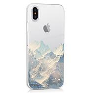 Недорогие Кейсы для iPhone 8-Кейс для Назначение Apple iPhone X iPhone X iPhone 8 iPhone 8 Plus Ультратонкий Прозрачный С узором Кейс на заднюю панель Пейзаж Мягкий